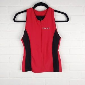 Hind Triathalon Cycling Tank Top Athletic Red